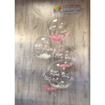 №8 Фонтан из прозрачных шаров сфер с перьями