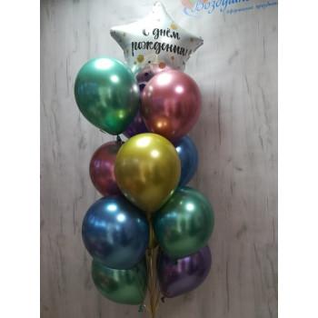 №10 Фонтан из хромированных шаров