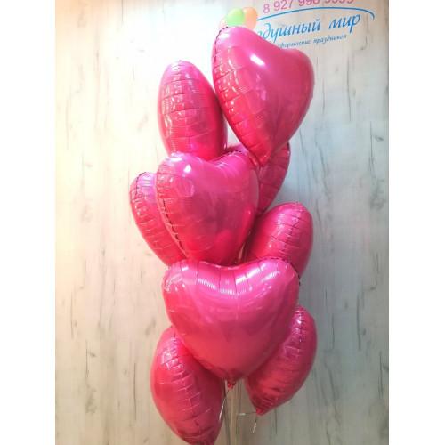 №11 Шары сердца розовые