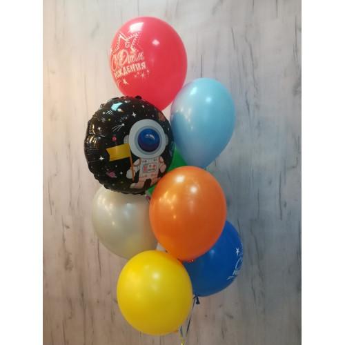№17 Гелиевые шары с рисунком фонтан