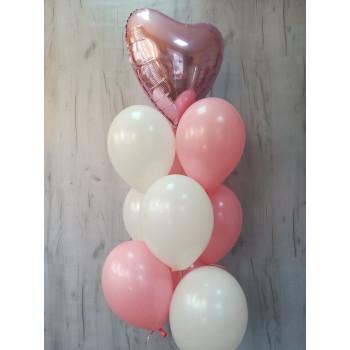 №51 Гелиевые шары с сердцем в связке