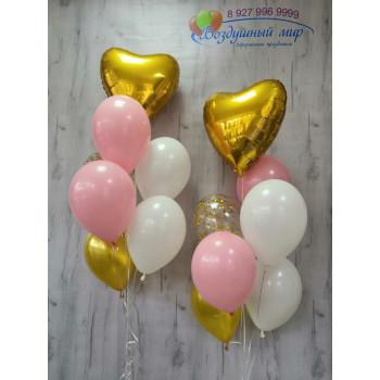 №33 Гелиевые шары с сердцем фонтан